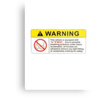 VTEC Warning Sticker, T-shirt, Phone Case Metal Print