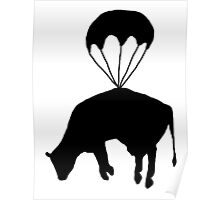 Airborne cow Poster