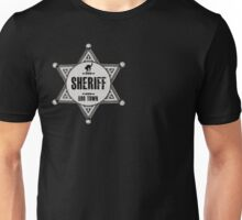 Halloween - Boo Town Sheriffs Badge  Costume Unisex T-Shirt