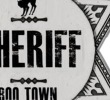 Halloween - Boo Town Sheriffs Badge  Costume Sticker