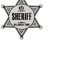 Sheriff Of Halloween Town Badge Costume by Al Craker