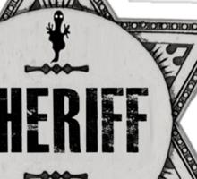 Sheriff Of Halloween Town Badge Costume Sticker