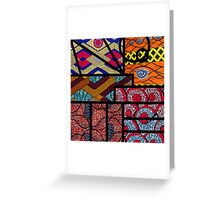 African print Greeting Card