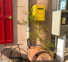Bicycle on a corner. by DavidMay