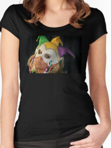 Blond Woman with Mask Women's Fitted Scoop T-Shirt