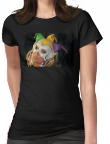 Blond Woman with Mask Womens Fitted T-Shirt