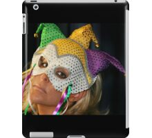 Blond Woman with Mask iPad Case/Skin