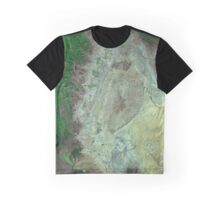 Capitol Reef Canyonlands National Parks Utah Satellite Image Graphic T-Shirt