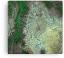 Capitol Reef Canyonlands National Parks Utah Satellite Image Canvas Print