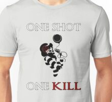 One Shot One Kill Clown Killer Unisex T-Shirt