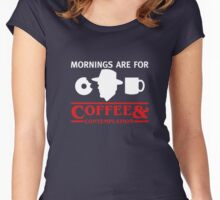 Mornings are for Coffee and contemplation T-shirt Women's Fitted Scoop T-Shirt