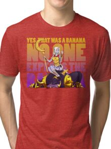 No one expects the banana - Soraka/Warwick Tri-blend T-Shirt