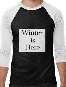 Winter is Here Men's Baseball ¾ T-Shirt
