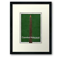 Cannibal Holocaust - Minimal Poster Framed Print