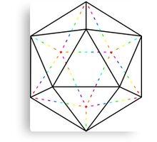 Rainbow Polyhedron Canvas Print