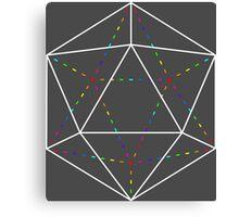 Rainbow Polyhedron - Inverted Canvas Print