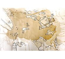 Spilled Beans Photographic Print