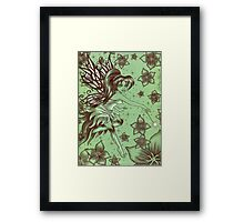Green Fantasy Fairy Framed Print