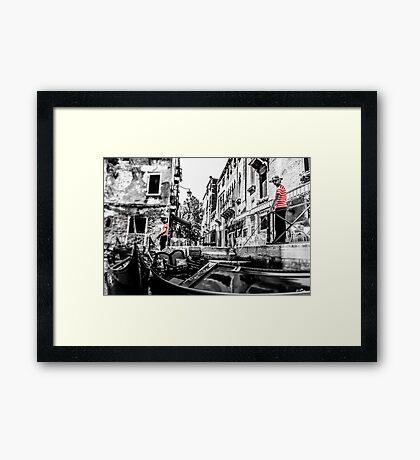 Gondoliers Framed Print