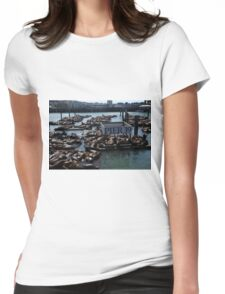 Pier 39 San Francisco Bay Womens Fitted T-Shirt