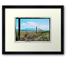 Montana Fence Framed Print
