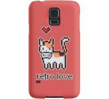 8 bit retro kitty Samsung Galaxy Case/Skin