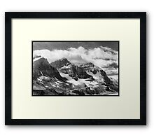 Canadian Rockies In Black & White Framed Print