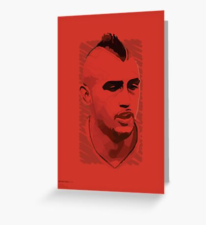 World Cup Edition - Arturo Vidal / Chile Greeting Card