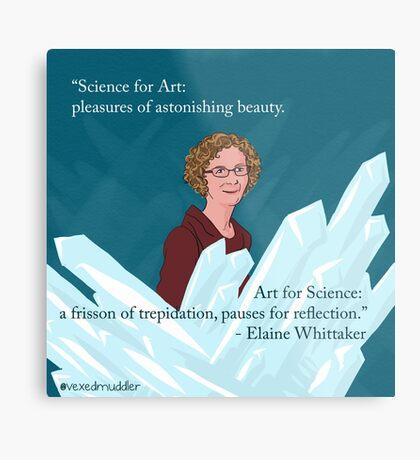 #SciComm100: Elaine Whittaker Metal Print