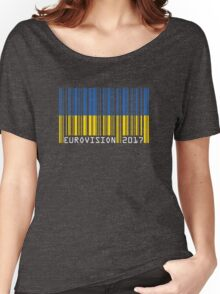 Eurovision 2017 [barcode] Women's Relaxed Fit T-Shirt