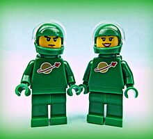Lego Space Pete & Yve by minifignick