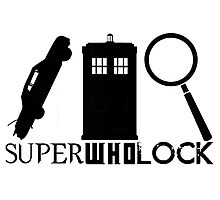 SuperWhoLock - Impala, T.A.R.D.I.S & Magnifying Glass Photographic Print