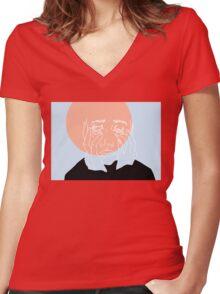 What the Frik (Orange) Women's Fitted V-Neck T-Shirt