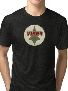 Battlestar Galactica Viper patch Tri-blend T-Shirt