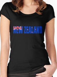 New Zealand Flag Women's Fitted Scoop T-Shirt