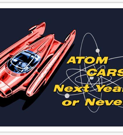 Atom Cars retro Sticker