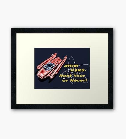 Atom Cars retro Framed Print
