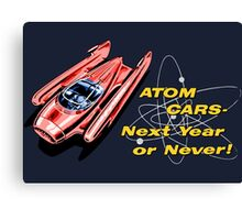Atom Cars retro Canvas Print