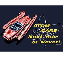 Atom Cars retro Photographic Print