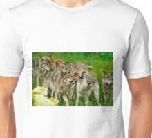 Timber Wolves at Play Unisex T-Shirt
