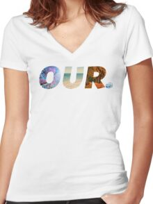 Seasons OUR.™ Women's Fitted V-Neck T-Shirt