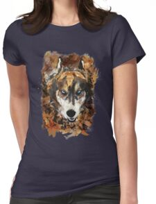 A Wolf in Autumn Womens Fitted T-Shirt
