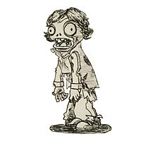 It's a Zombie Sherlock! Photographic Print