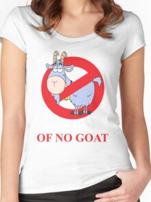 i ain't afraid of no goat (large size) Women's Fitted Scoop T-Shirt