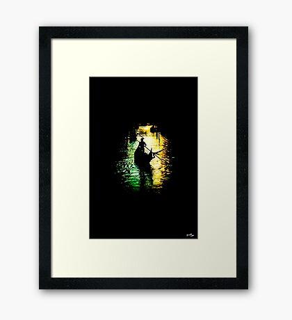 Loner Gondola Framed Print