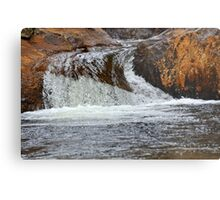 Lower falls and pool at Smalls Falls Metal Print