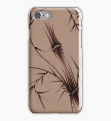 """As One""  Original brush pen sumi-e bamboo drawing/painting iPhone Case/Skin"