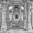 Inside Jain Temple at Ranakpur - India by TonyCrehan