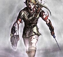 Link Warrior Art - The Legend of Zelda by Mellark90