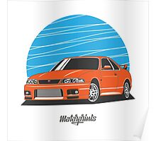 Nissan Skyline (R33) GT-R (orange) Poster